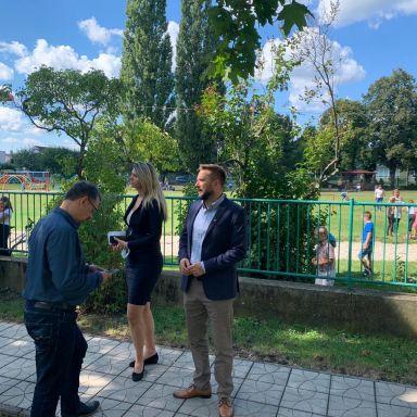 Z návštevy primátora Valla vo Vajnoroch