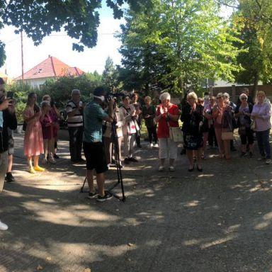 Slávnostbé otvorenie petangového ihriska v Rakús parku