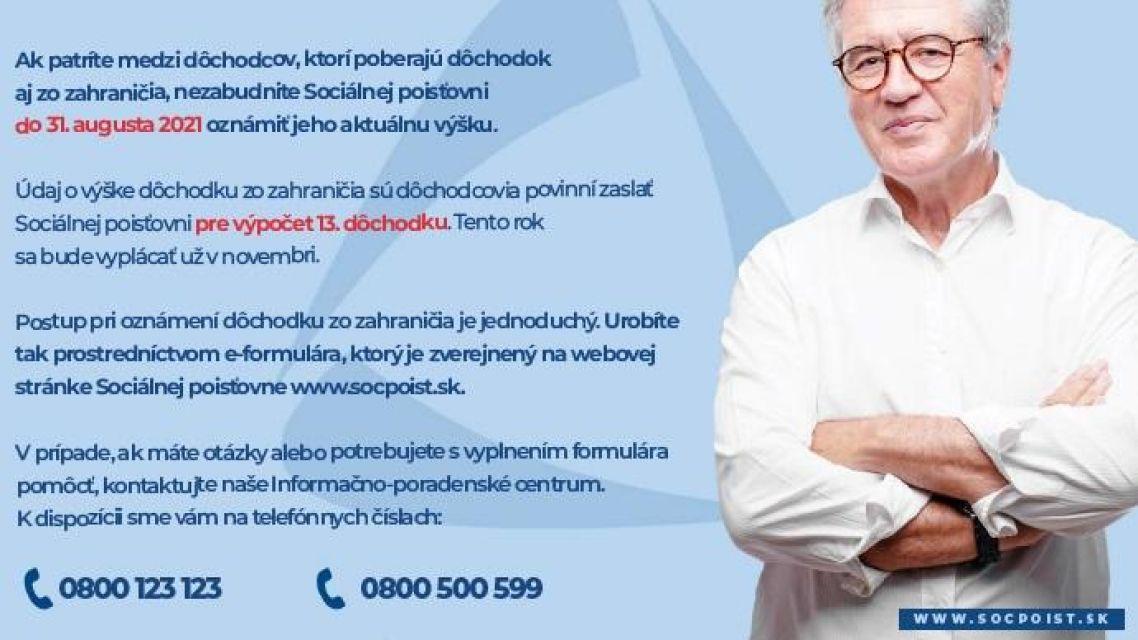 Dôležitá informácia pre dôchodcov, poberajúcich dôchodky aj zo zahraničia